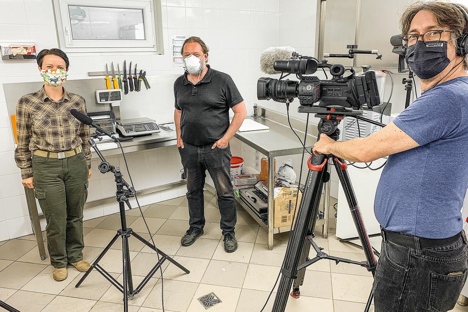 Making of: die Dreharbeiten direkt im Zerwirkraum