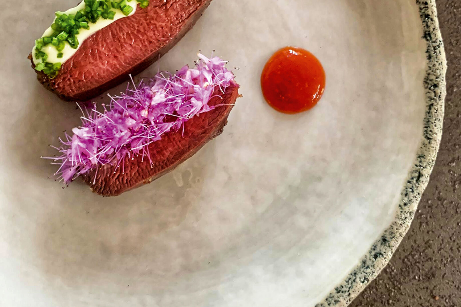 Ringeltaube mit geschmortem Gemüse