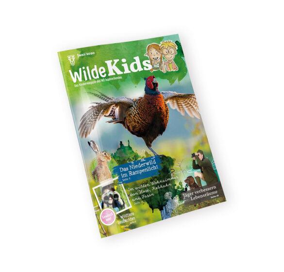 """Cover """"Wilde Kids"""" - Erste Ausgabe des Kindermagazins """"Wilde Kids"""" mit Schwerpunkt Niederwild. - © NÖ Jagdverband"""