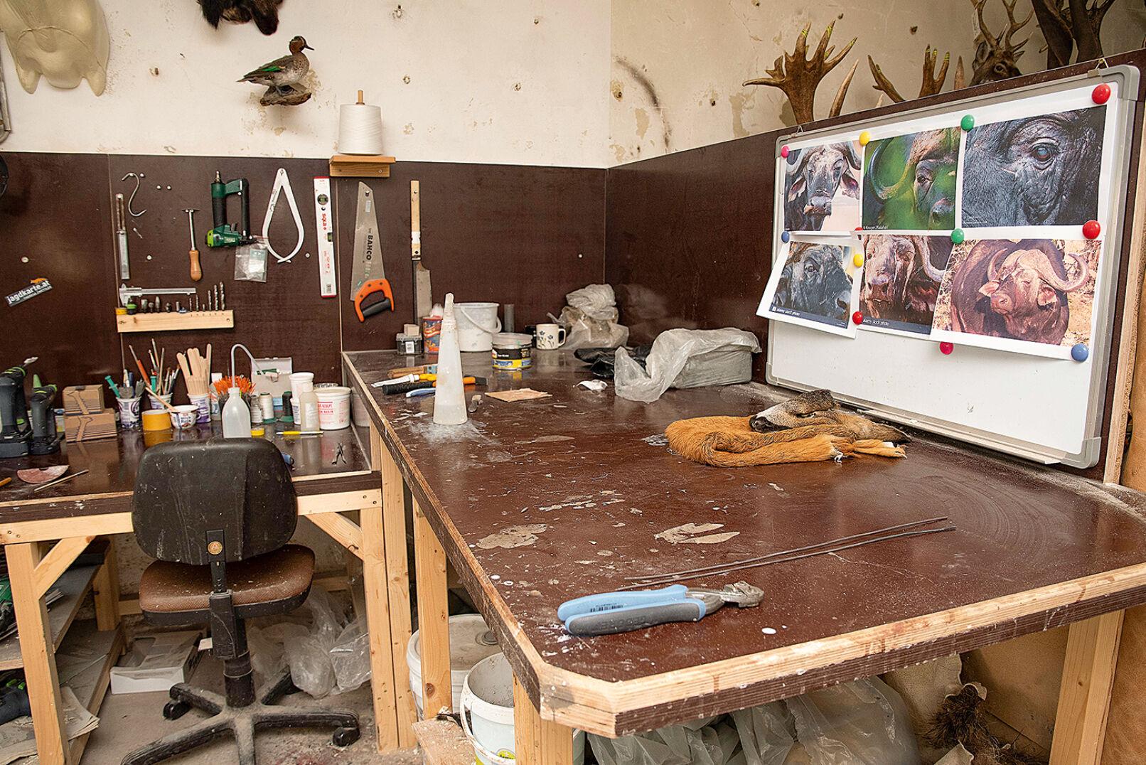 Die Arbeitsfläche bietet Platz für Feinarbeiten. - © Barbara Marko