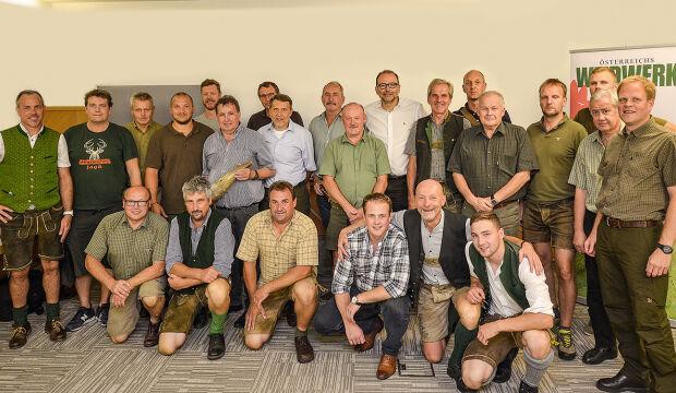 Teilnehmer des WEIDWERK Hirschrufseminars 2019 - © Barbara Marko